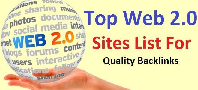 Web 2.0 Sites for Link Building Rank Trends