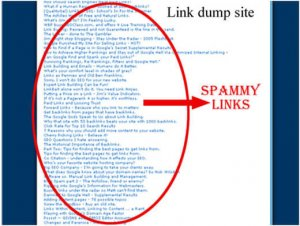 google penalty for spammy