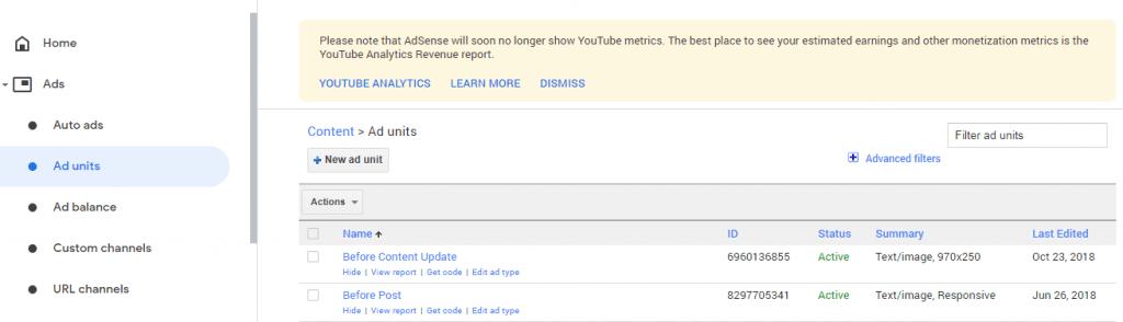 google adsense code setup