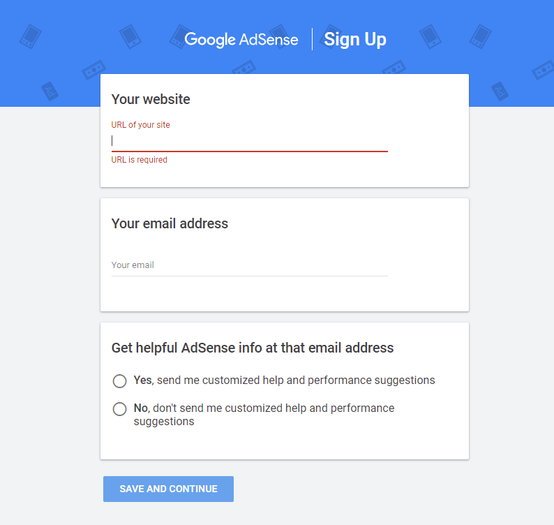 how to register on google adsense account