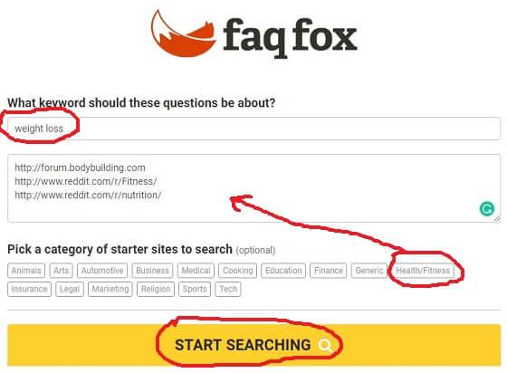 faq fox keyword research tool