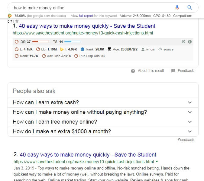 how to do keyword research with google search