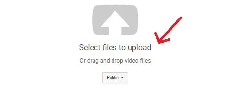 select video to upload