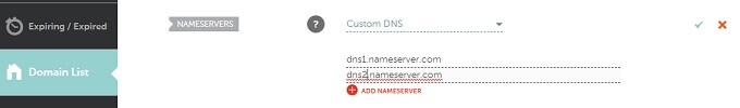 nameserver dns setting