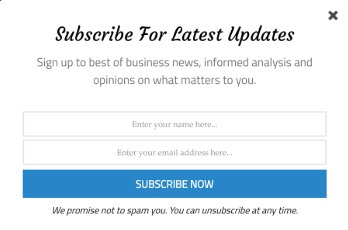 optin form for email marketing