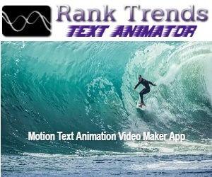 rank trends text animator - text animated video maker app