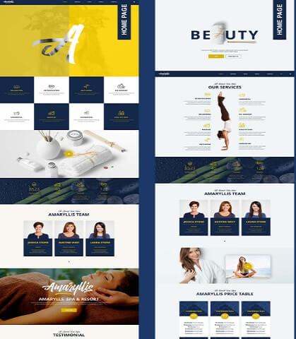 amaryllis beauty and spa wordpress theme