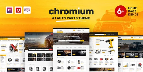 chromium auto parts wordpress woocommerce theme