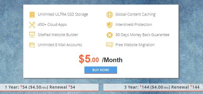 interserver hosting package